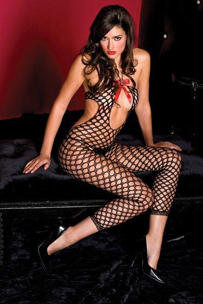 Black Pothole Bodystocking - One Size Available
