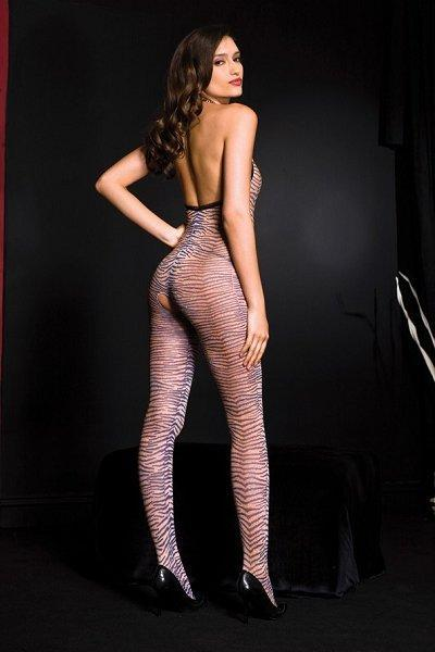 Tiger Print Bodystocking - One Size Available