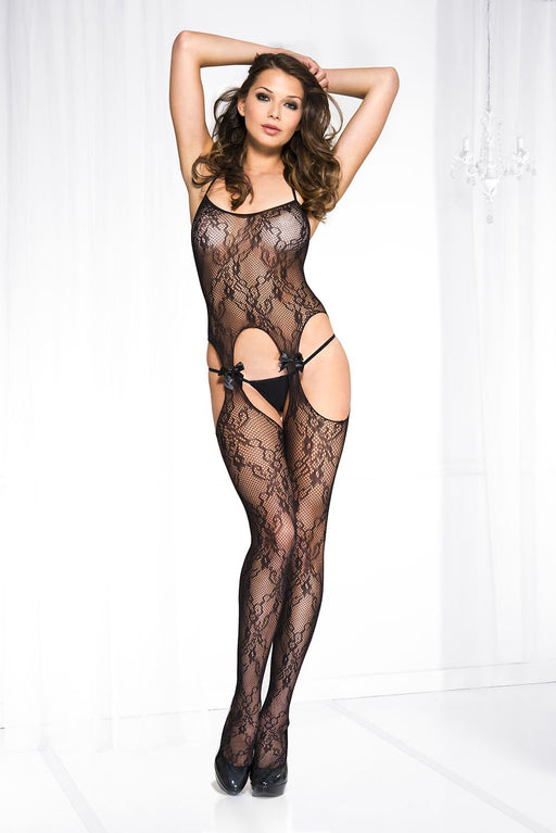 Lace Suspender Bodystocking - One Size Available