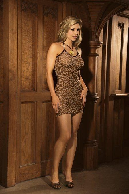 Leopard Slip Mini Dress - One Size and Queen Available