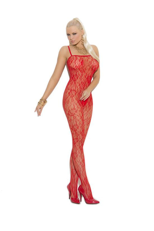 Rose Lace Bodystocking - One Size and Queen Available