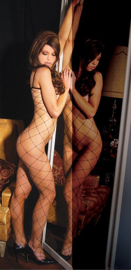 Diamond Net Bodystocking - One Size and Queen Available