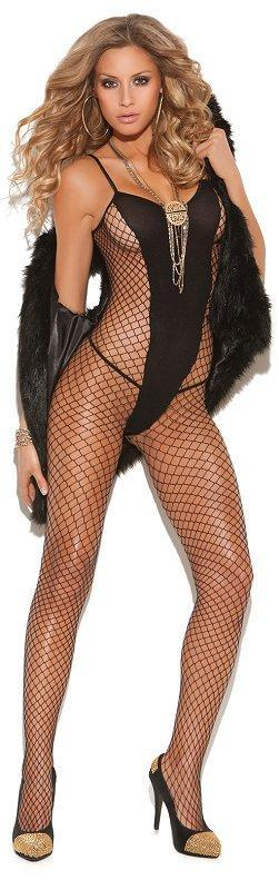 Back Diamond Net Bodystocking - One Size Available