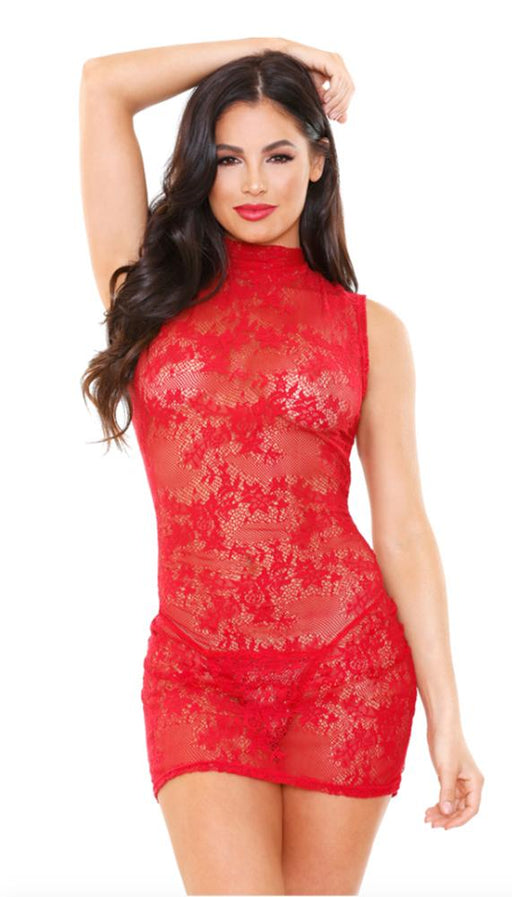 Ariel High Neck Lace Dress & G-String