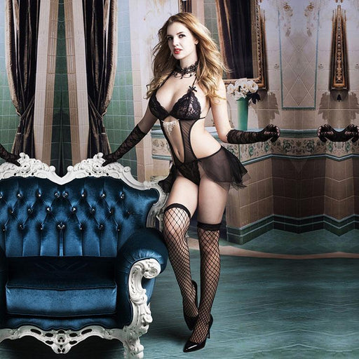 Gloves and stockings are included