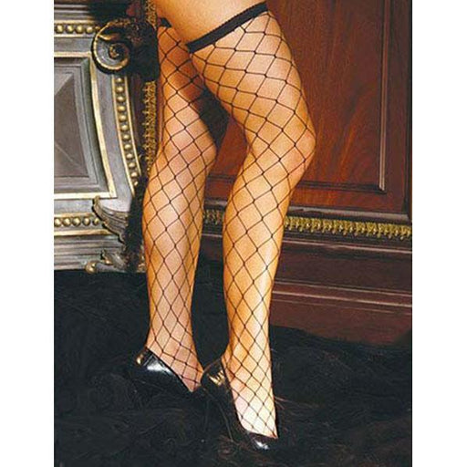 Black Diamond Net Thigh Highs - One Size Fits Most