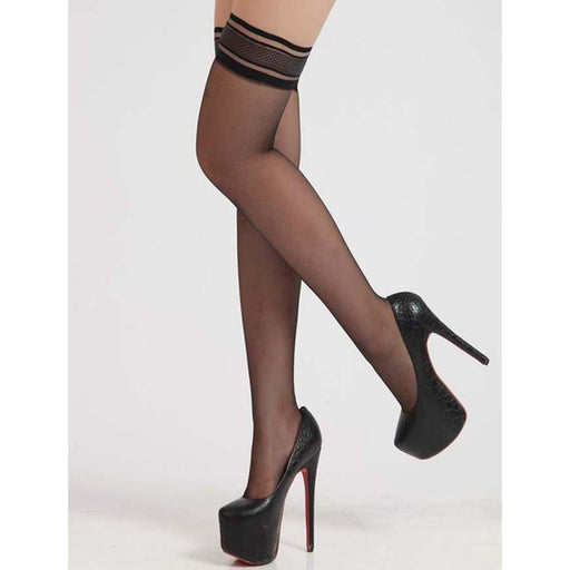 Black Sheer Thigh Highs - One Size Fits Most