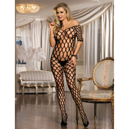 Crotchless Porthole Bodystocking - One Size and Queen Available