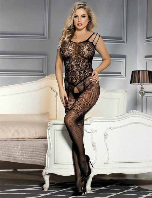 Crotchless Net Bodystocking - One Size and Queen Available