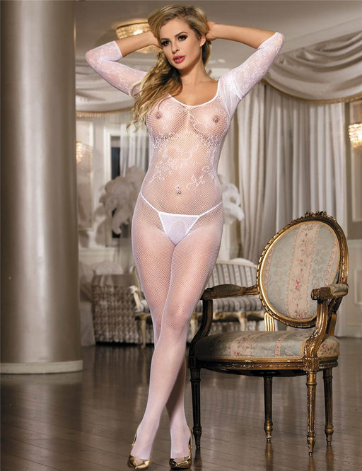 Lace Off The Shoulder Bodystocking - One Size and Queen Available