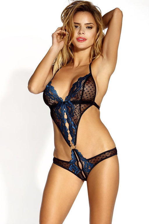 Heart Mesh Halter Teddy - Two Sizes Available
