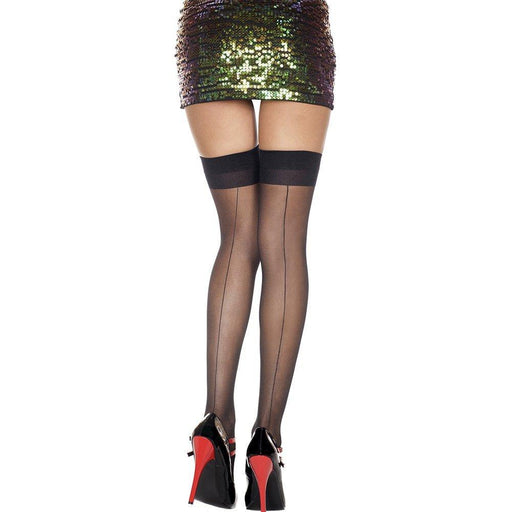 Backseam Thigh High Stocking - One Size Available