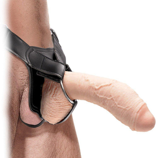 Slide this strap-on over your man meat and pound her like a stud!