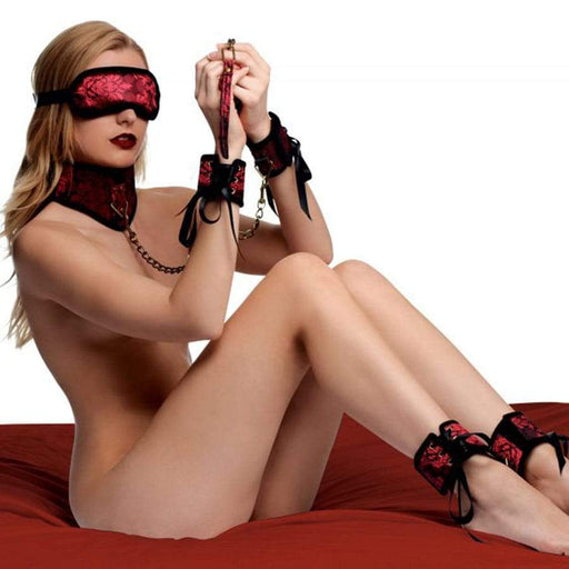 Red Dragon Satin Bondage Set