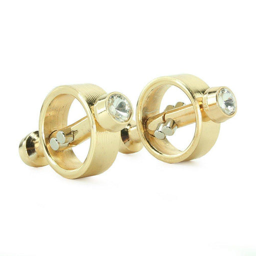 Gold Magnetic Nipple Clamps<p>Stylish Gold with Faux Diamonds!