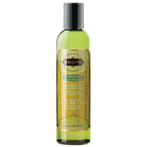 Kama Sutra Naturals Massage Oil Coconut Pineapple 8 Ounces