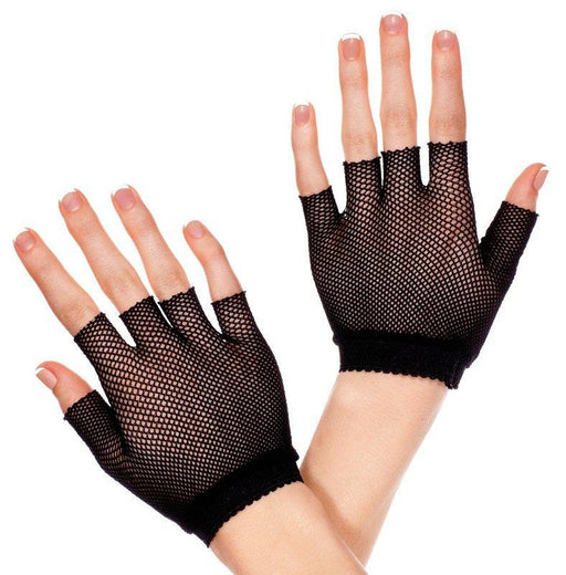 Black Fishnet Wrist Gloves - One Size Available
