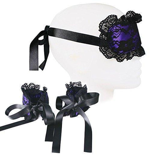 Luxurious Lace Blindfold and Handcuff Set