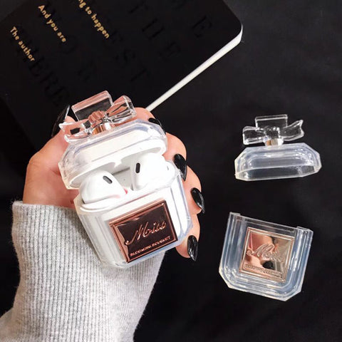 LUXURY CRYSTAL MISS PERFUME APPLE AIRPODS PROTECTIVE CASE COVER