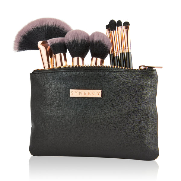Black Rose 8 piece brush set with bag