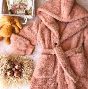 All The Fluff - Dressing Gown (Dusky Pink)