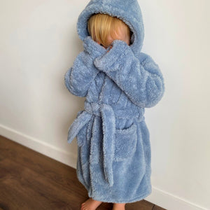 All The Fluff - Dressing Gown (Blue/Grey)