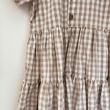 Caramel Gingham Dress