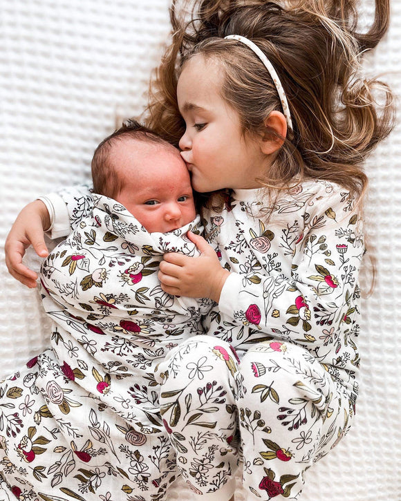 Floral Swaddle/Throw