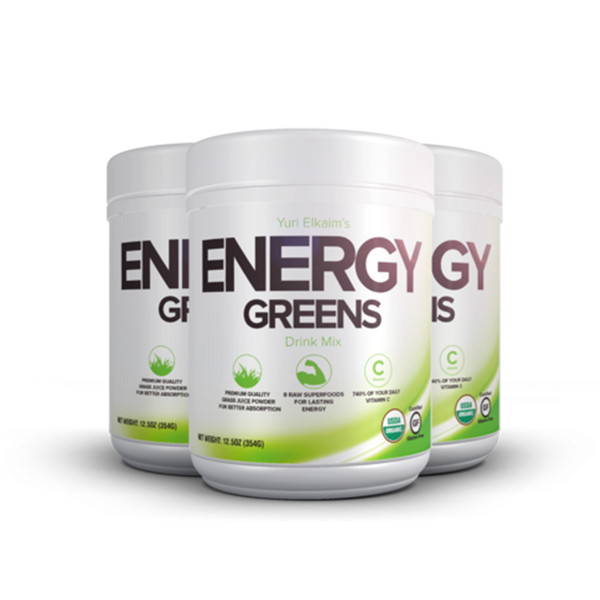 Energy Greens 3 Bottle Value Bundle ($79/Bottle)