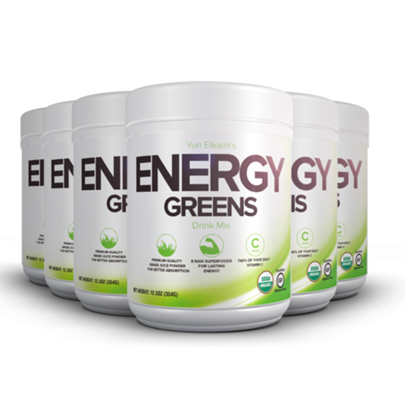 Energy Greens 6 Bottle Value Bundle ($65/Bottle)