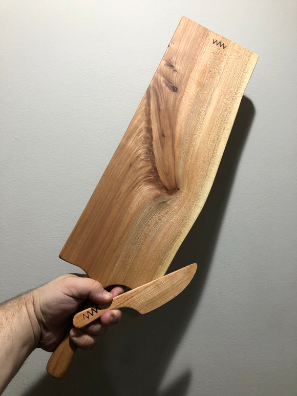 Sycamore  Charcuterie and Cheese Board with Spreader