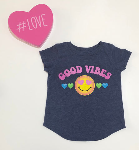 Jumping Beans Girls Good Vibes Graphic Tee Size 4