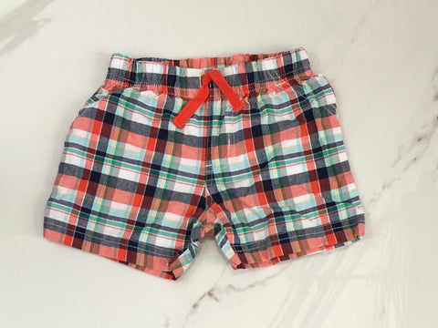 Child of Mine Carter's Boys Plaid Shorts 6-9M