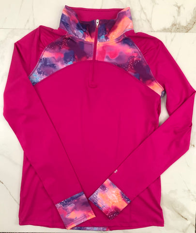 Champion Girls Pink 1/4 Zip Pullover Shirt Jacket size 14