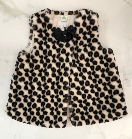 Little Me Girl's Animal Print Fleece Vest Size 4T