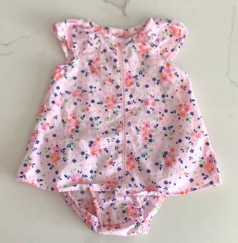Just one You Carter's Girl's Floral pink Dress Size 9M