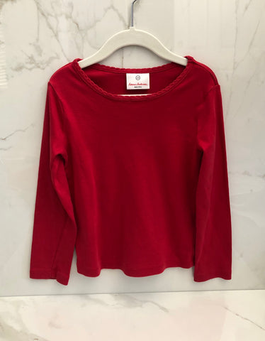 Hanna Andersson Basic Pima Cotton Long Sleeve Tee Top size 110 CM 4-6 years