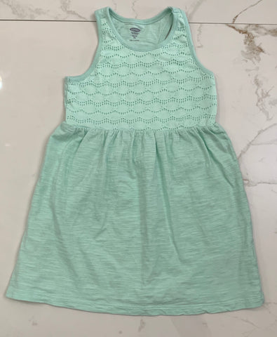Old Navy Girl's Mint Green Crochet Dress XS 5