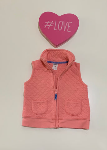 Carter's Baby Girl Pink ZIP up Vest Size 12M