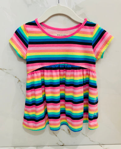 The Children's Place Girls Striped Dress 18-24M