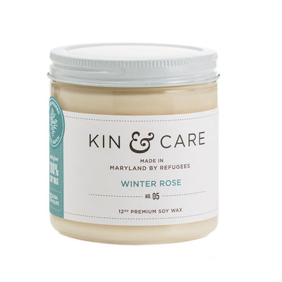 Winter Rose Jar Candle