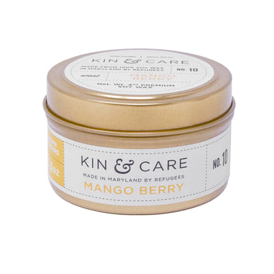 Mango Berry gold tin candle
