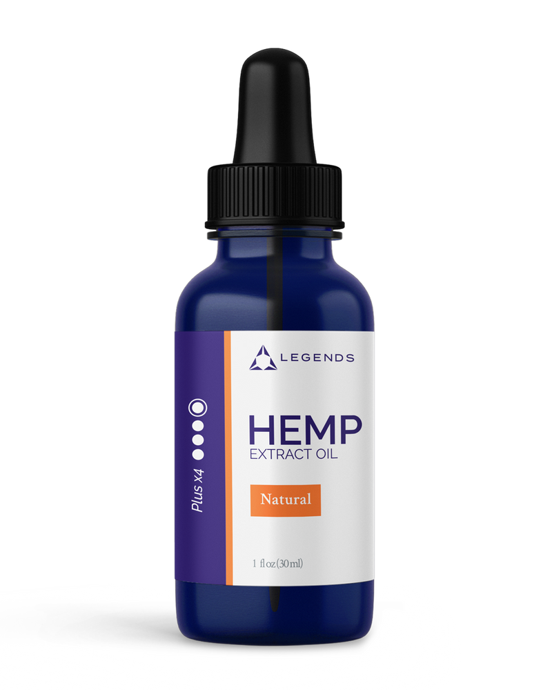 LEGENDS Health Hemp Extract CBD Oil Plus x4 Peppermint