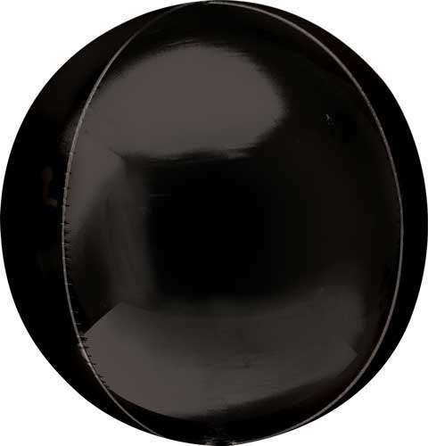 black round balloon with helium