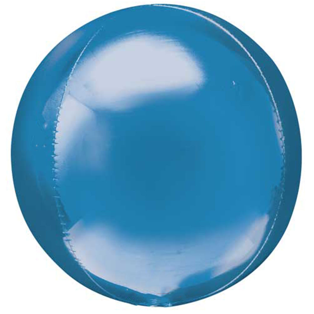 blue round balloon with helium