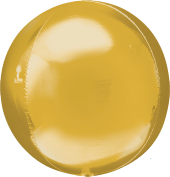 gold round balloon with helium