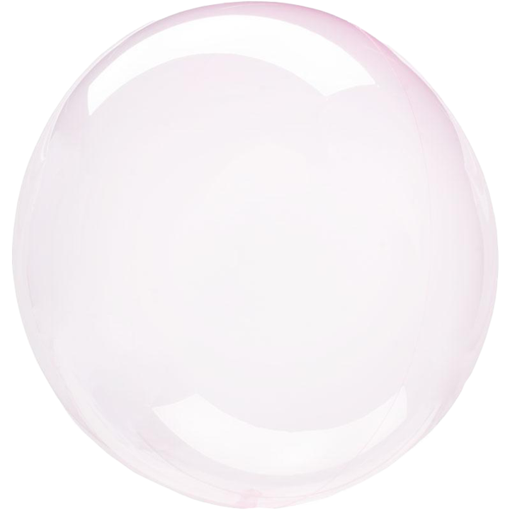 light pink crystal clear round balloon with helium
