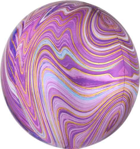 purple marble round balloon with helium