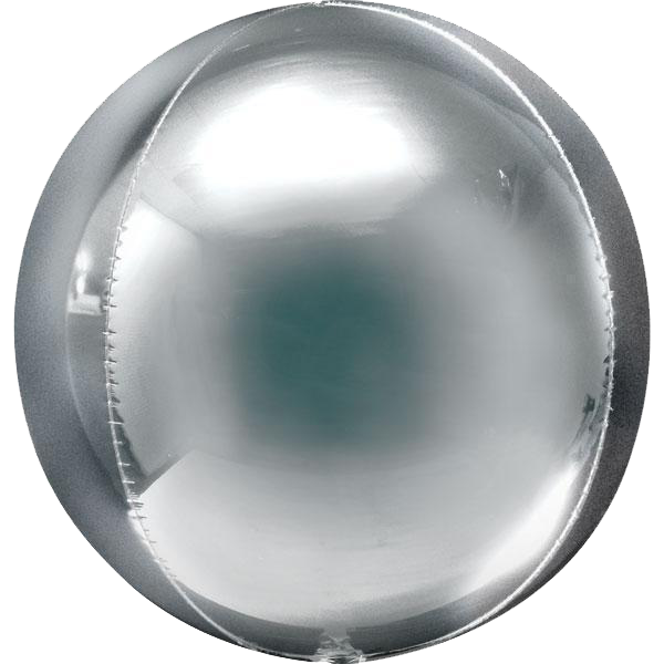 silver round balloon with helium