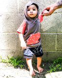 Skater Life Boy Shorties size 12-18 Months RTS  - Spring Summer Shorts Ready to Ship Skateboard Punk